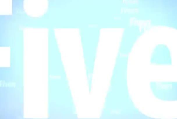 create amazing intro video 26 sec for just