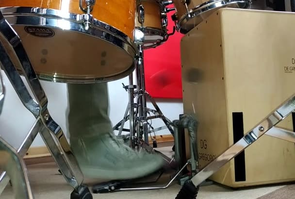 record my cajon drum set for your song