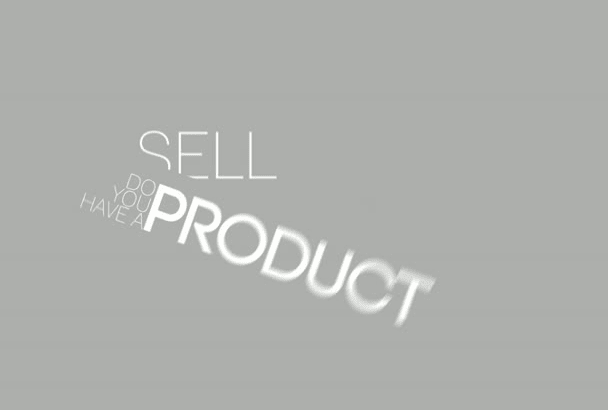 do a very good typography sales video
