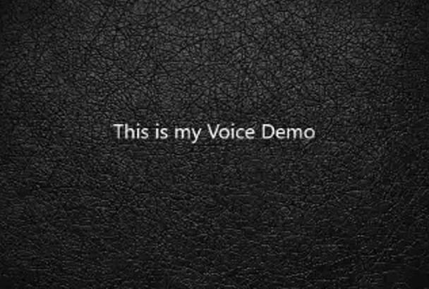 record any American male voice over