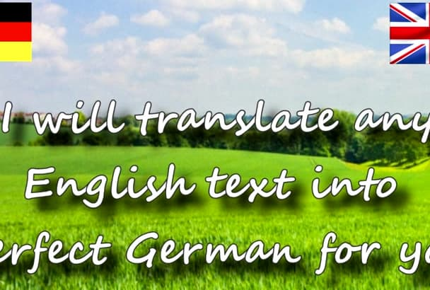 translate your English documents into good German