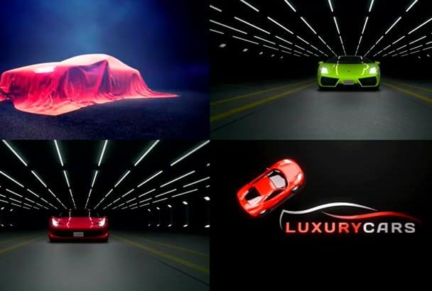 create 1 of 4 luxury CAR logo intro