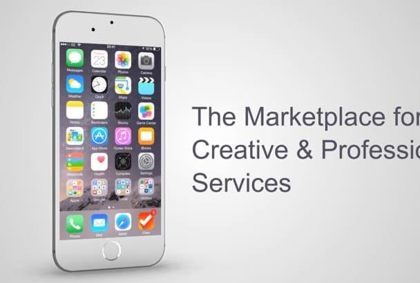 create a mobile app presentation intro