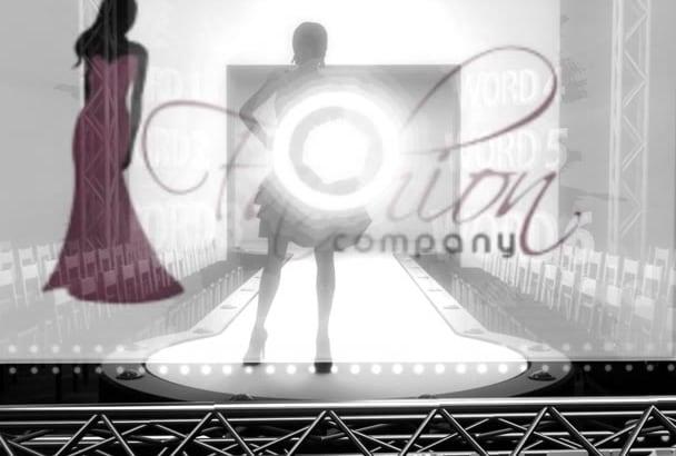 create this glamorous video intro