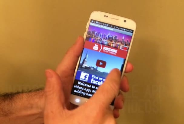 create a mobile app from your YouTube  videos in 24 hours