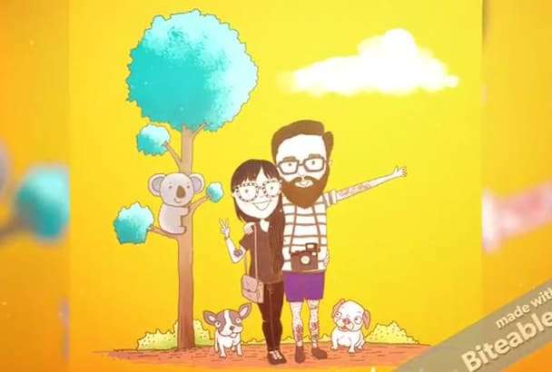 illustrate Cute Family Cartoon that makes you smile