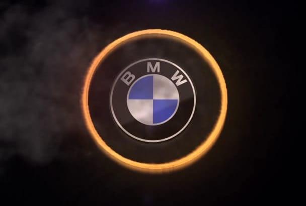 create amazing fire ring logo intro video animation