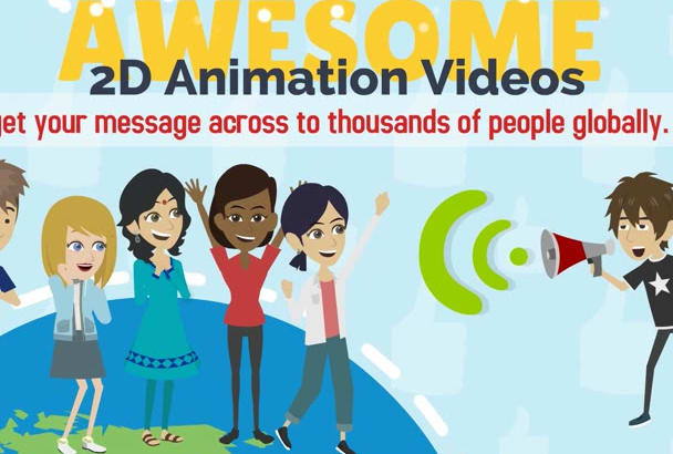 create a WOW 2D Animated Explainer Video