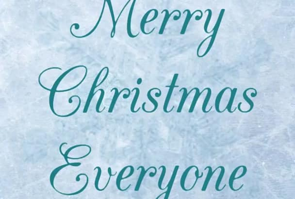 do Christmas photo or video with your custom message