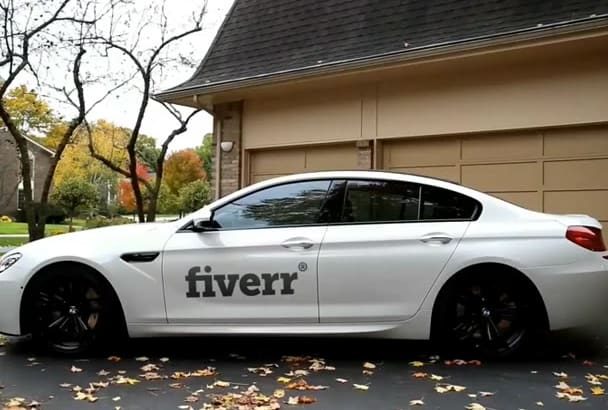 put your logo on a real bmw car