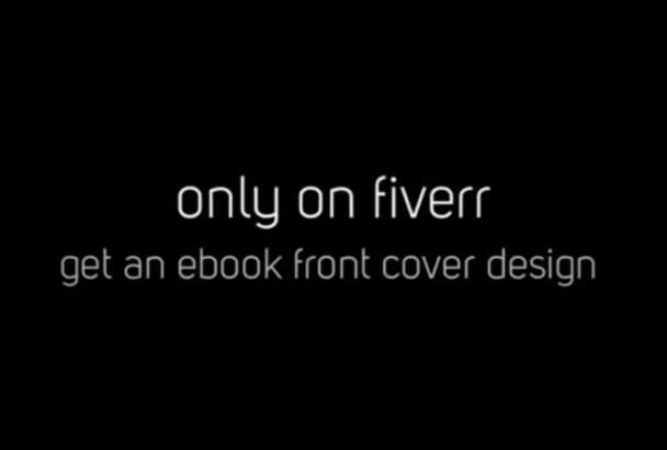 design a professional book or ebook front cover