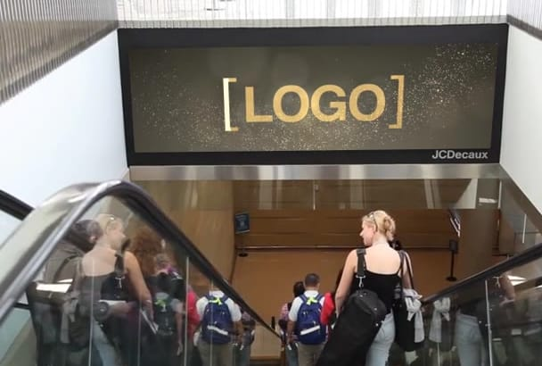 put your Logo on a Real Airport Digital Signage