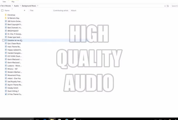 provide the highest quality Audio