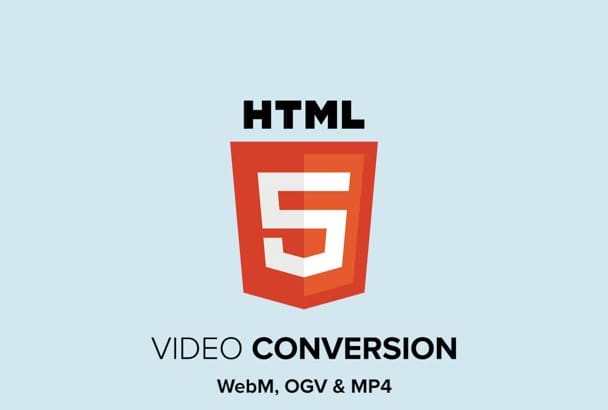 convert videos into lightweight HTML5 formats