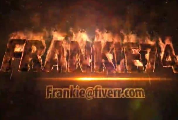 create Fire Burning Video Intro
