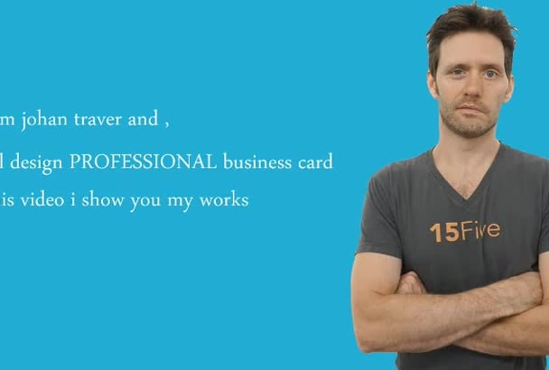 design OUTSTANDING 2side business card in 24 hrs