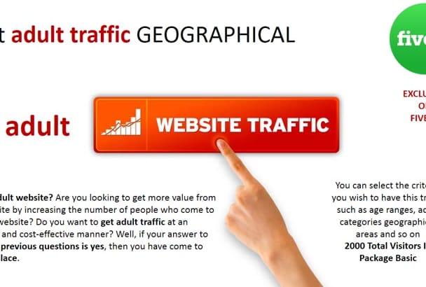 send premium adult traffic geographical