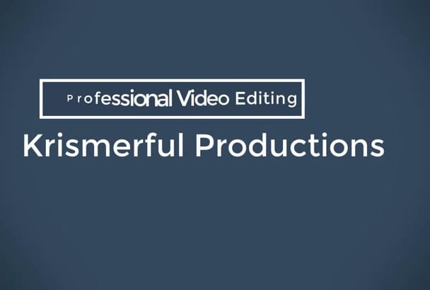 edit any video of your choice