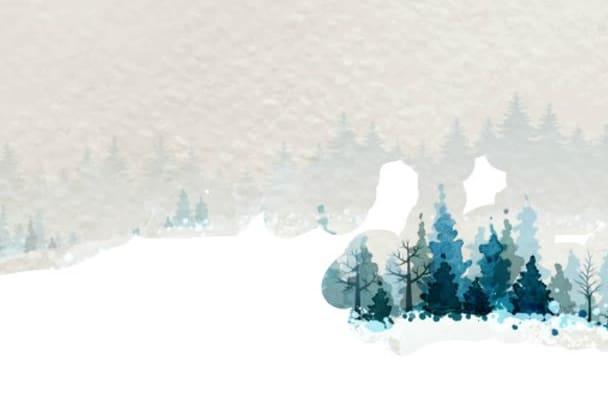 create a winter scenery for New Year today