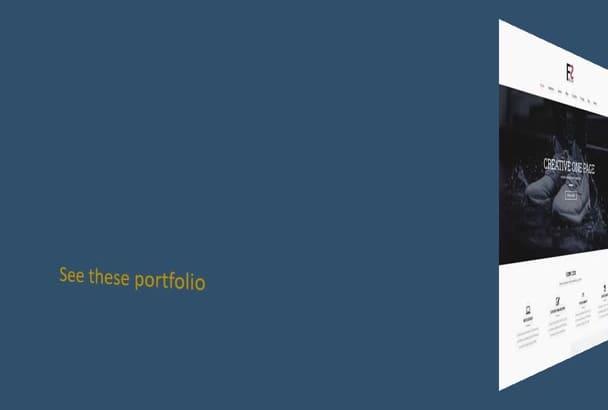 create complete professional wordpress website