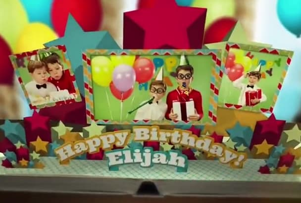 make this Happy Birthday Popup book Video