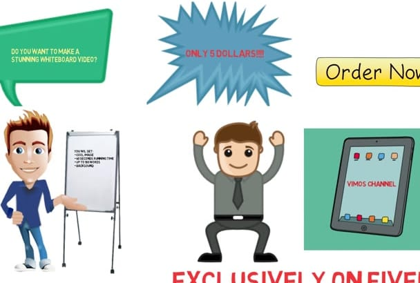 create memorable whiteboard video starts from just 5 dollars