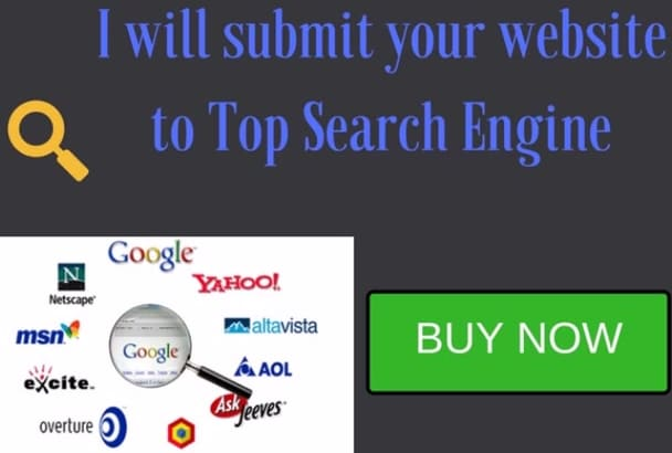 submit your website to search engines for more EXPOSURE