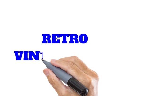 design a 2 Customized Retro Vintage Logo