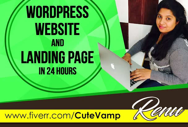 make WordPress Website and Landing Page in 24hrs