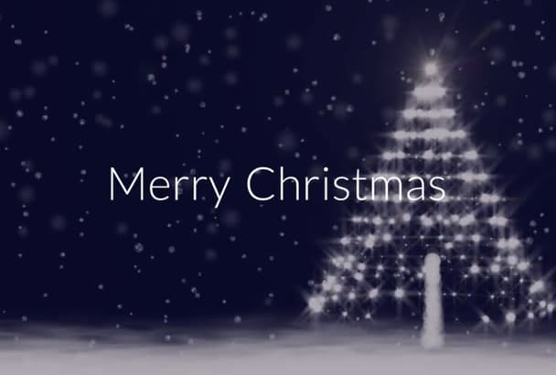 create a Merry Christmas Video Card Greeting in this Style