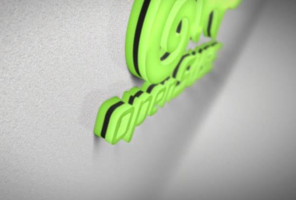 create 2 VERY high quality 3D logo intro animation videos