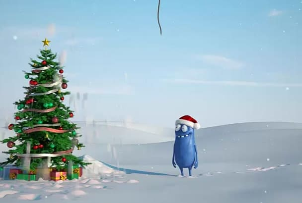 make this Animated CHRISTMAS video commercial