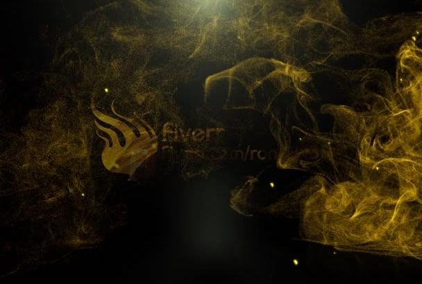 make a logo intro video along with golden horse