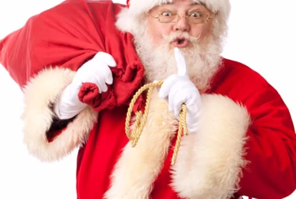 supply your radio station with a 2 hour Christmas Show hosted by Santa