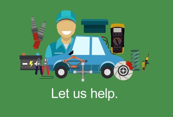 create a Car Repair Call to action video