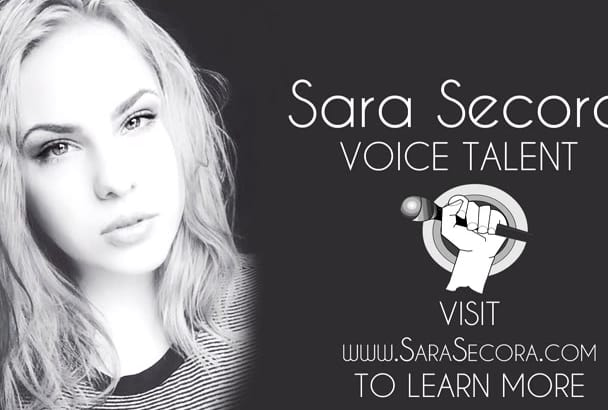 record any female voice over, American or British accent