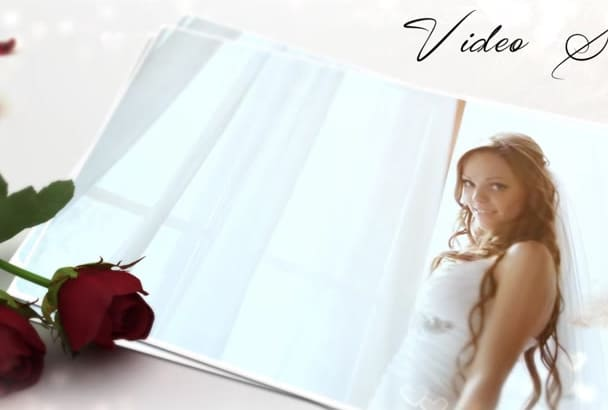 make a professoinal white WEDDING slideshow in one day