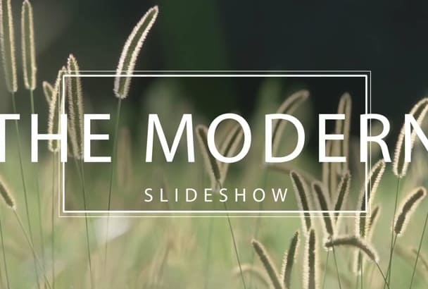 create the best modern video slideshow