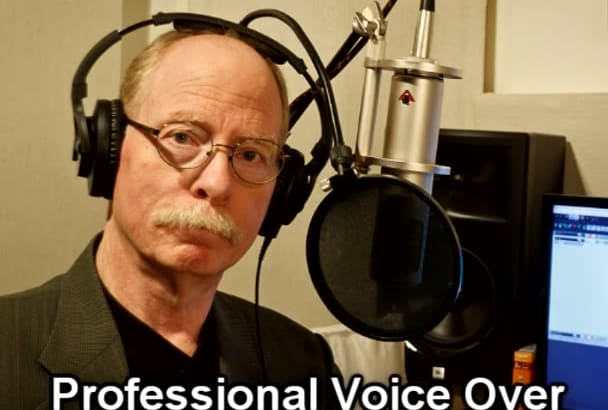 record a natural american male VOICEOVER