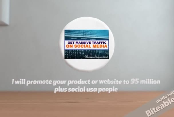 promote your product or website to 95 million plus social usa people