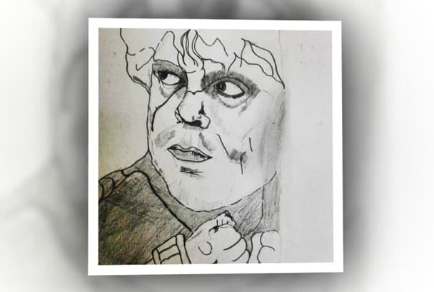 turn your photo into hand drawn pencil sketch