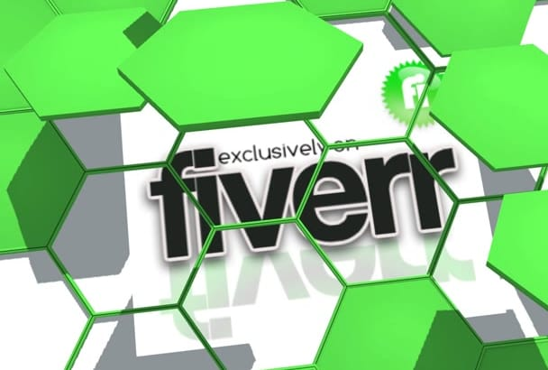 create this amazing 3D honey combs intro unvealing your logo