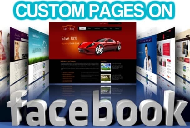 create a custom made Facebook page