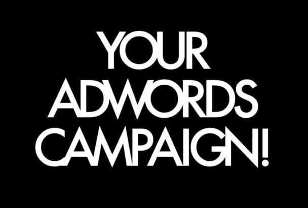 setup and build your Adwords campaign in English