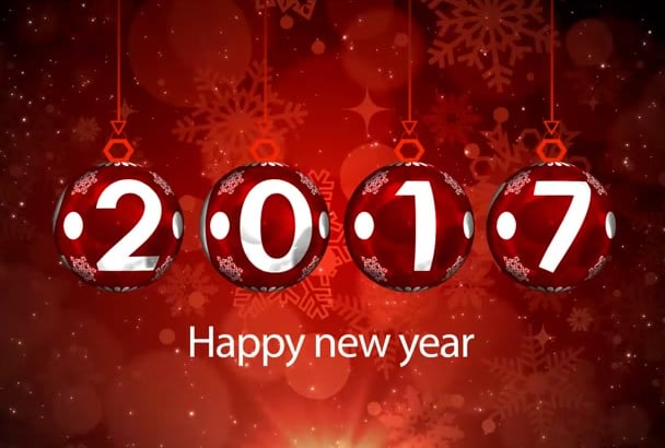 create New Year countdown fireworks video intro in 1 hr