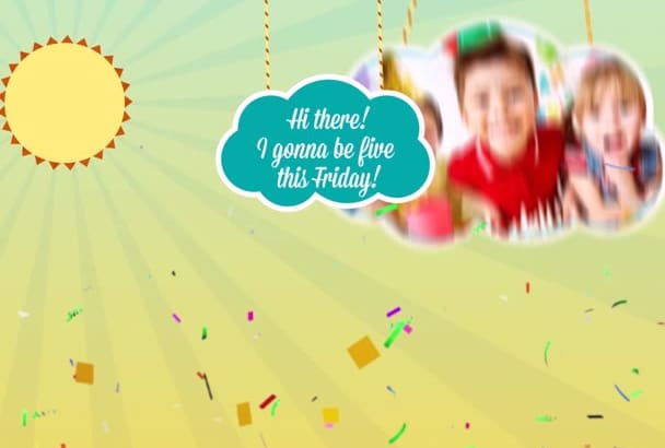 Create this beautiful kids birthday party invitation video by markozaric create this beautiful kids birthday party invitation video stopboris Gallery
