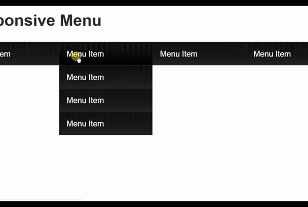 responsive menu design with html css and java script code