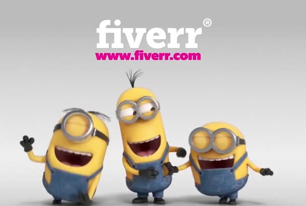 make funny minions video to promote your Logo and Web Site