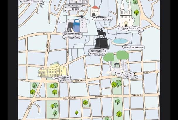 draw illustrated vector map in illustrator