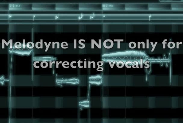 correct or creatively change melody to your vocals